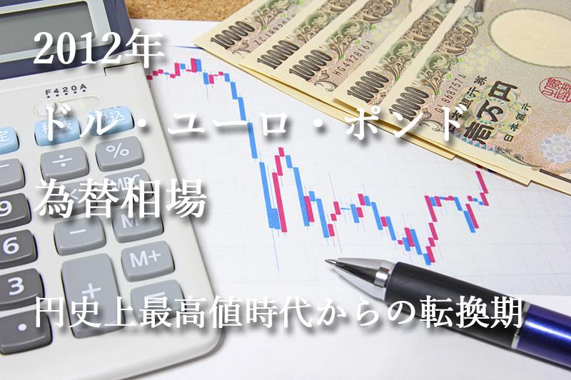 2012年のドル・ユーロ・ポンドの為替相場『円史上最高値時代からの転換期』