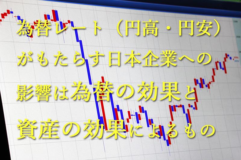 為替レート(円高・円安)がもたらす日本企業への影響は為替の効果と資産の効果によるもの